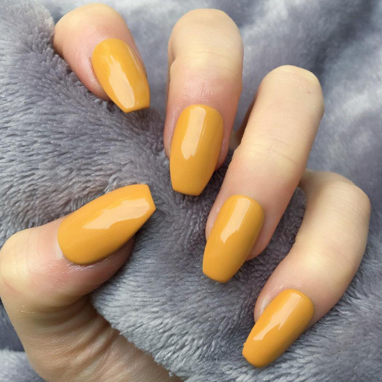 Mustard Yellow Nail Color