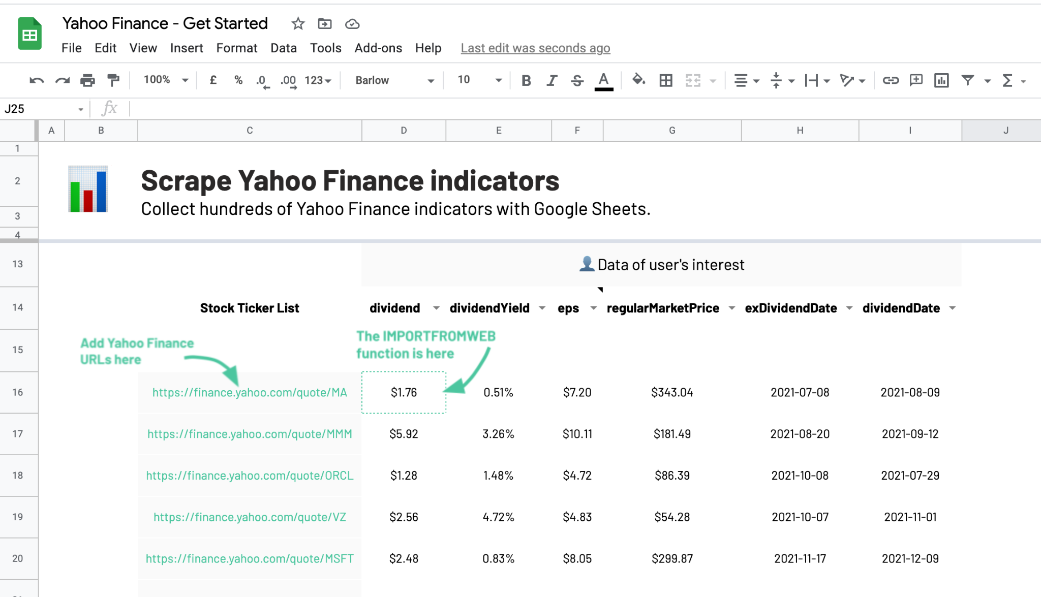 Yahoo Finance Scraper