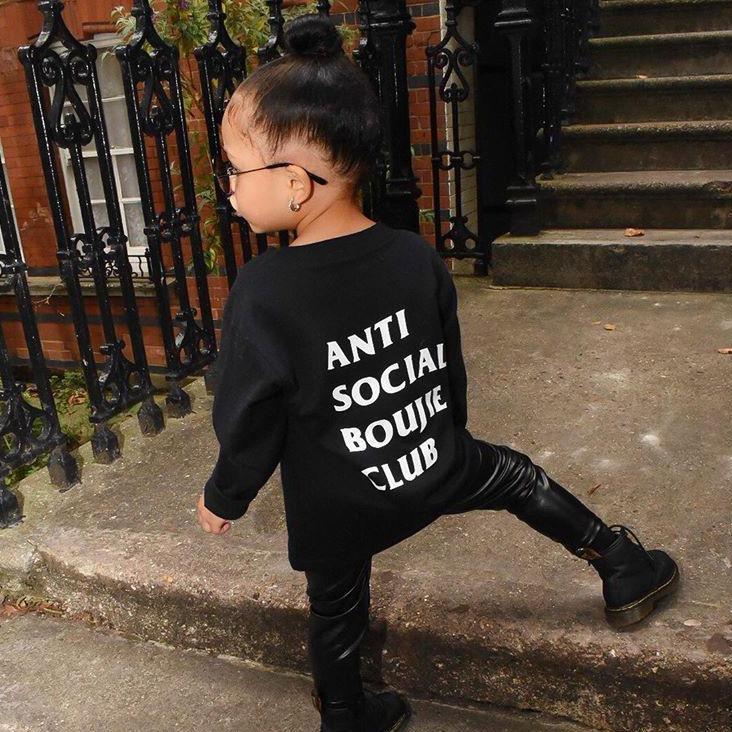 Anti Social Boujie Club Long Sleeve Tee Little Kids – BoujieKids