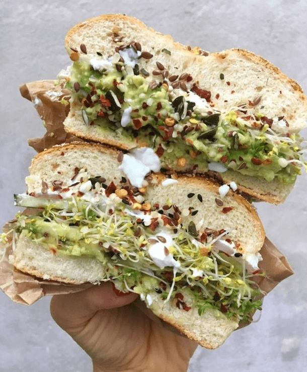 Avocado Bagel Sandwich