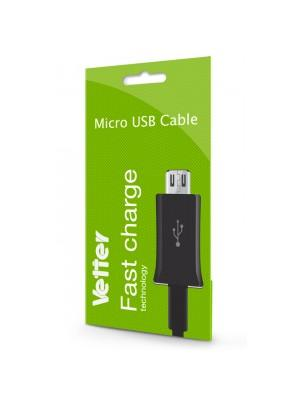 Micro USB Fast Charging and Data Cable | Vetter Black