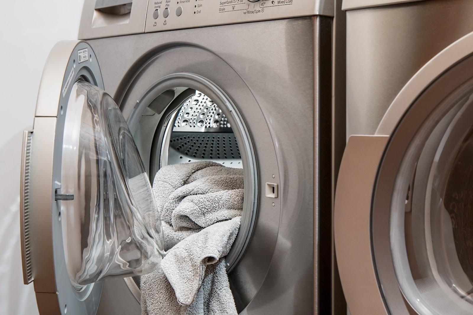 Handdoeken in wasmachine