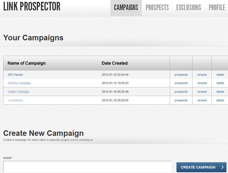 SEO tool link prospector