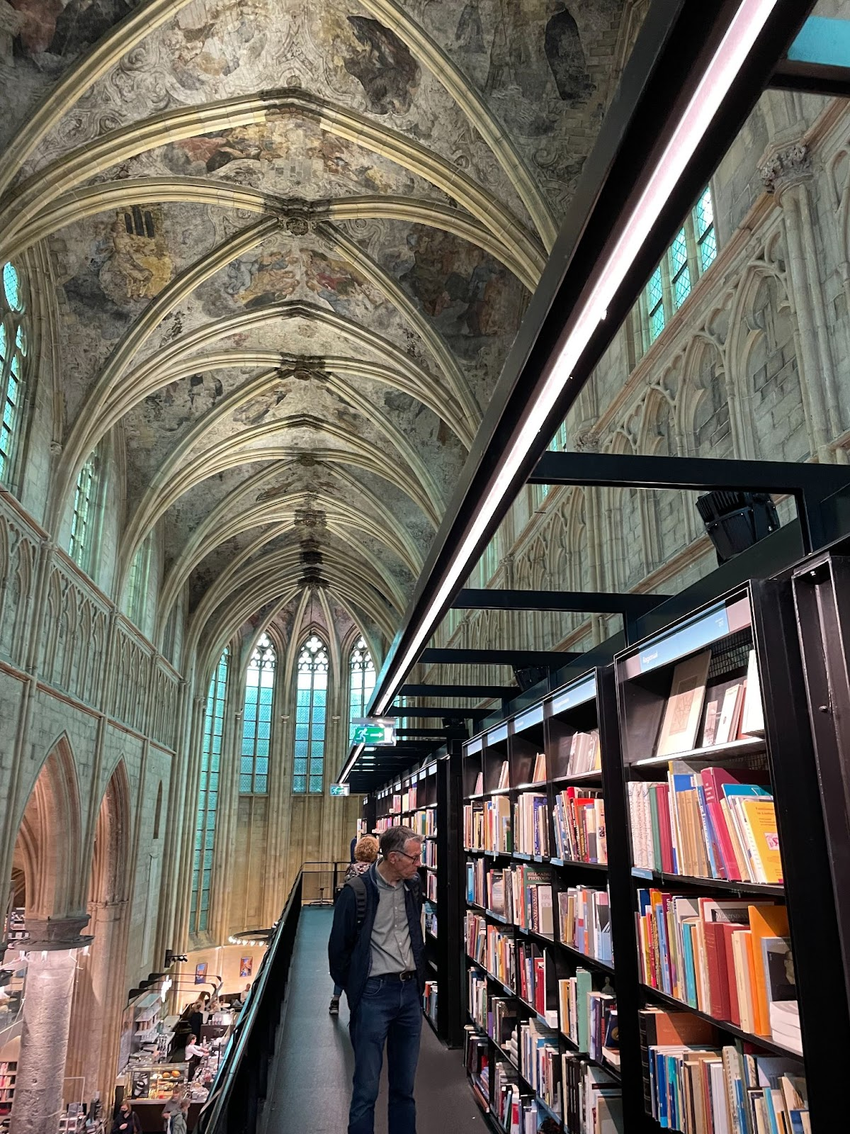 Church converted into a bookstore in Maastricht, Netherlands