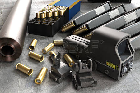 43824464-assault-rifle-accessories-collection-consisting-of-bullet-rounds-gun-barrel--magazines--front-and-re.jpg