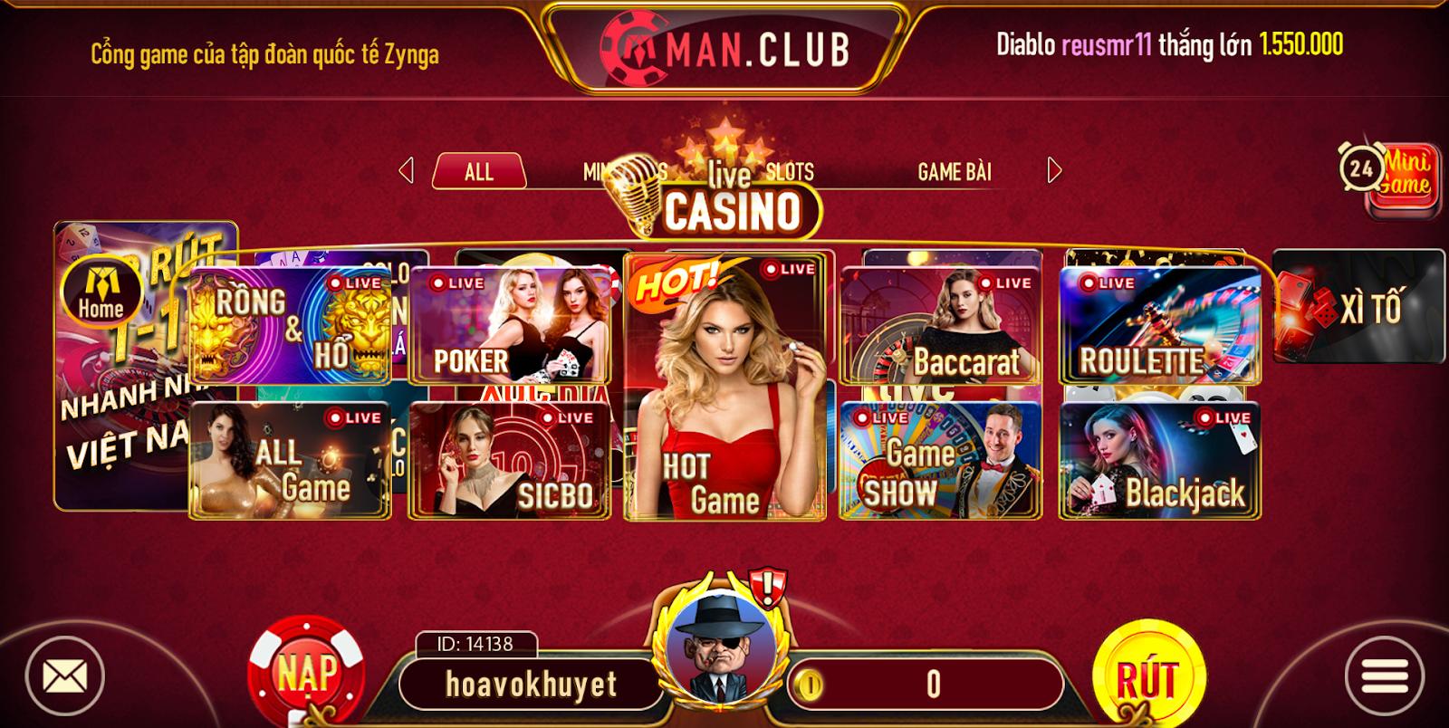 Man Club - Game bài phái mạnh 3