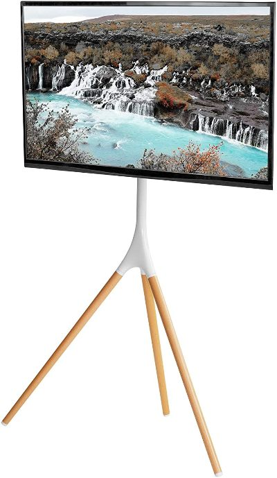 VIVO White Artistic Easel 45 to 65 inch LED LCD Screen display stand