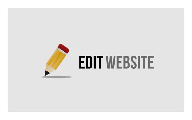 Edit Website chrome extension