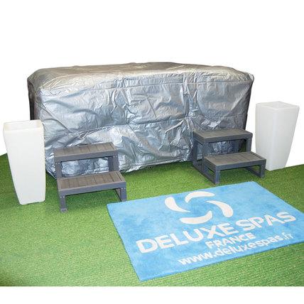 Le Spa Bag (Housse de spa complète) est parfaitement adapté pour l'hivernage prolongé de votre Spa. Il offrira une protection et isolation complète ainsi qu'une protection lors d'un transport éventuel du spa.