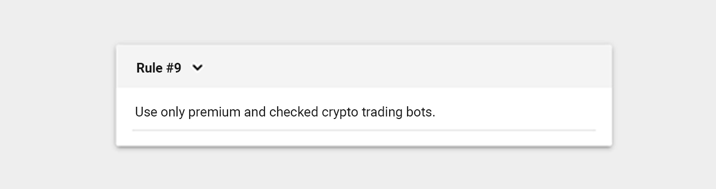 use only checked crypto trading bots
