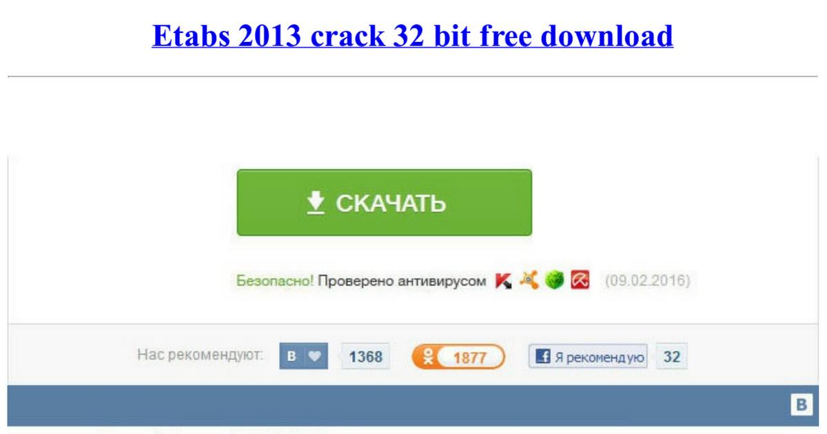 etabs 2013 crack 64 bit download