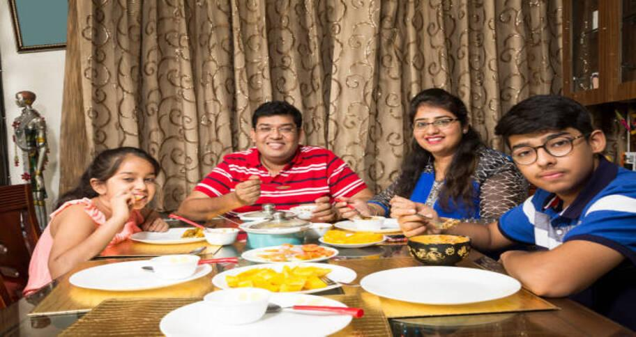 healthy food for kids should be eating with family