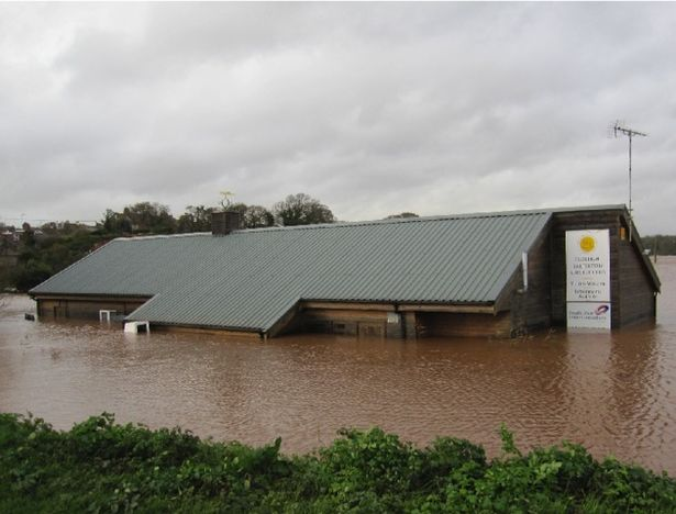 Previous flooding at Budleigh Salterton Cricket Club's Ottermouth ground