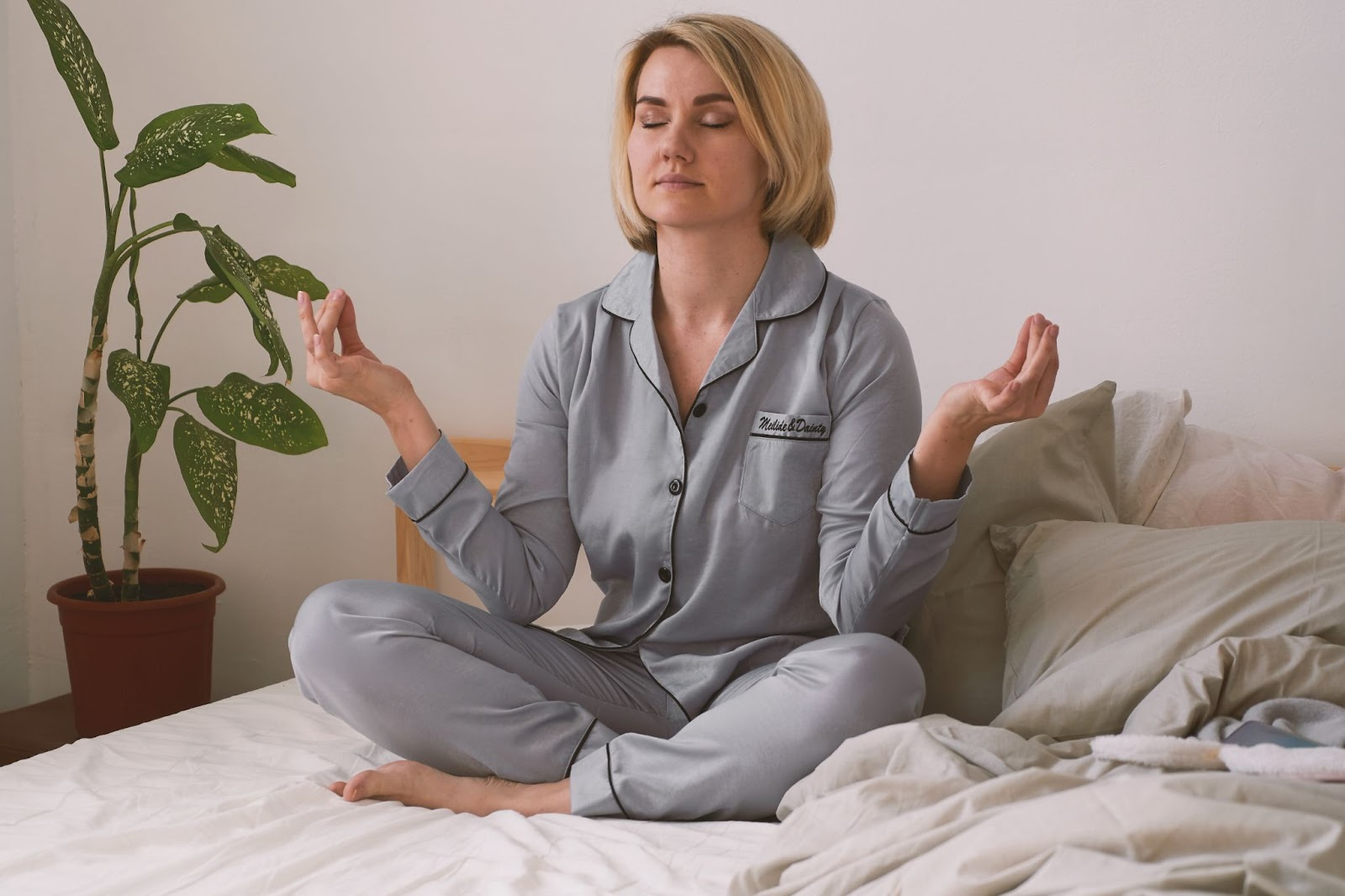 Yoga stretches you can do in bed.