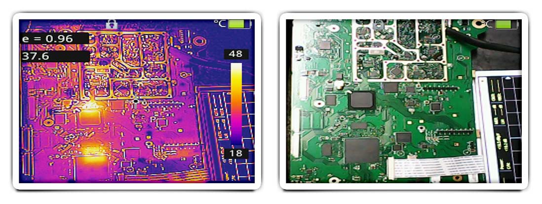Identificación de puntos calientes en un circuito para detectar averías y problemas