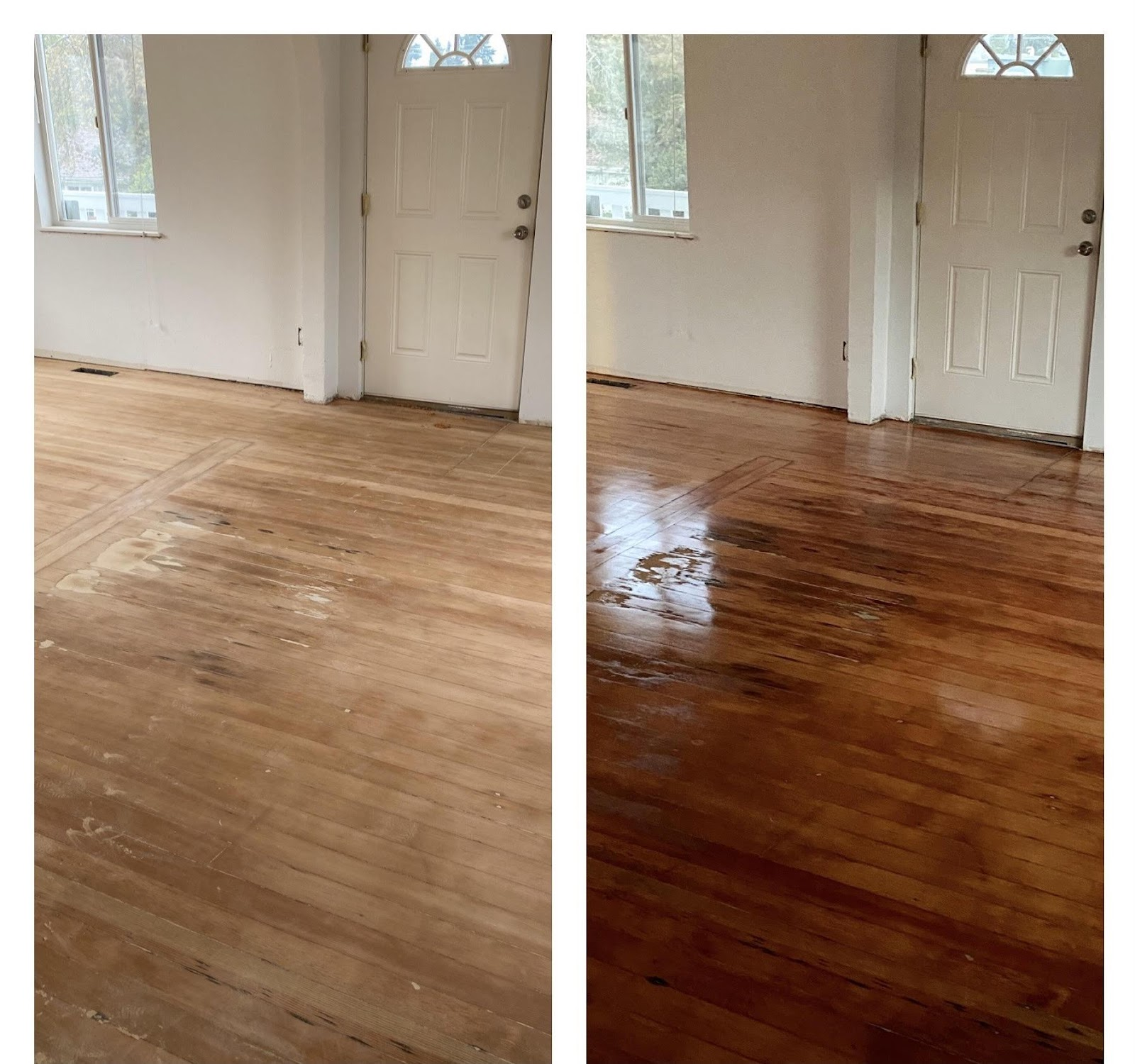 A close up of a hard wood floor  Description automatically generated