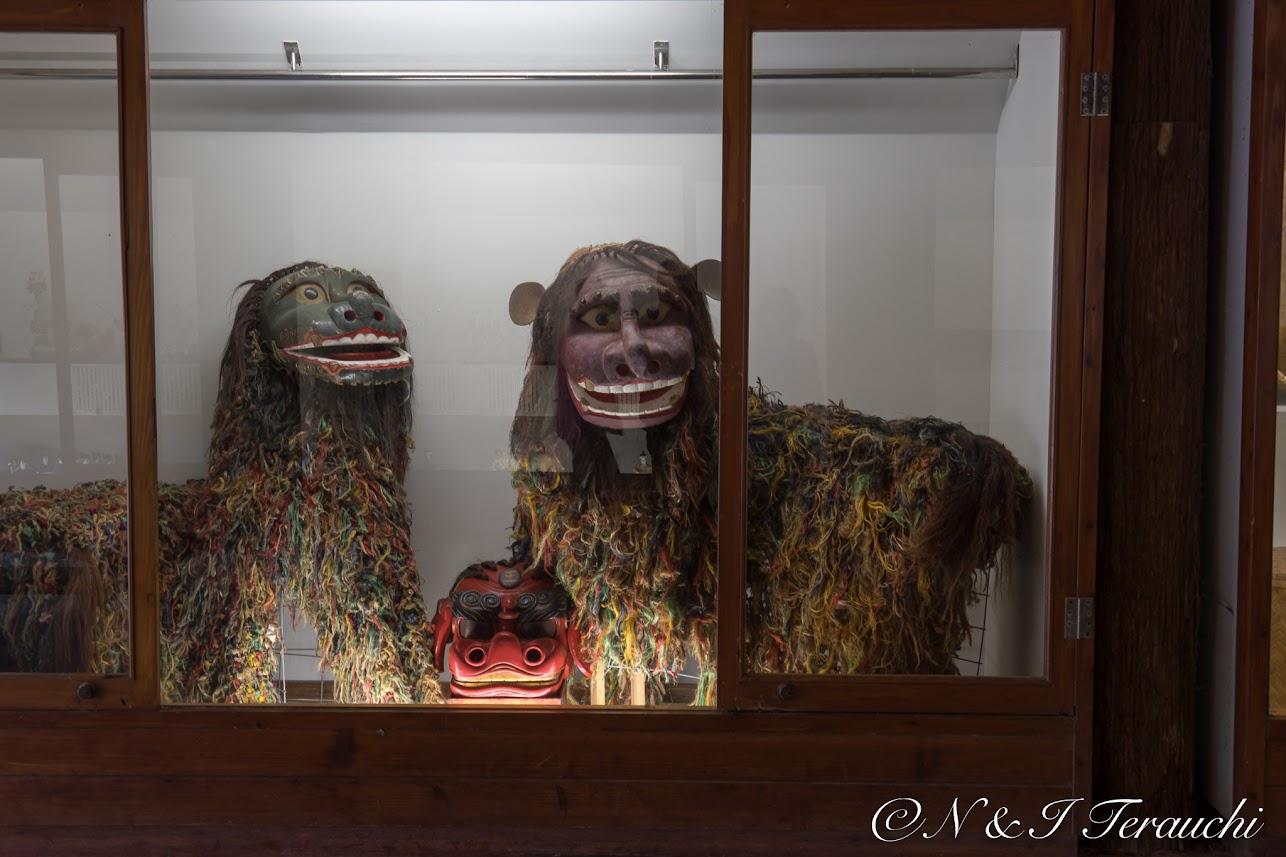 展示された昔の獅子たち