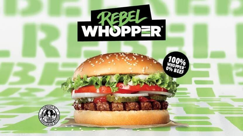 Burger King's Rebel Whopper, 0% beef