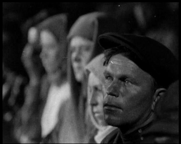 Кадр из фильма Небывалый поход Михаила Кауфмана об коллективизации