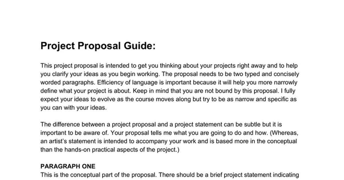 write a project proposal A paper proposal plays the leading role in presenting the topic here you provide the reader with the main points learn how to write a final year project proposal.