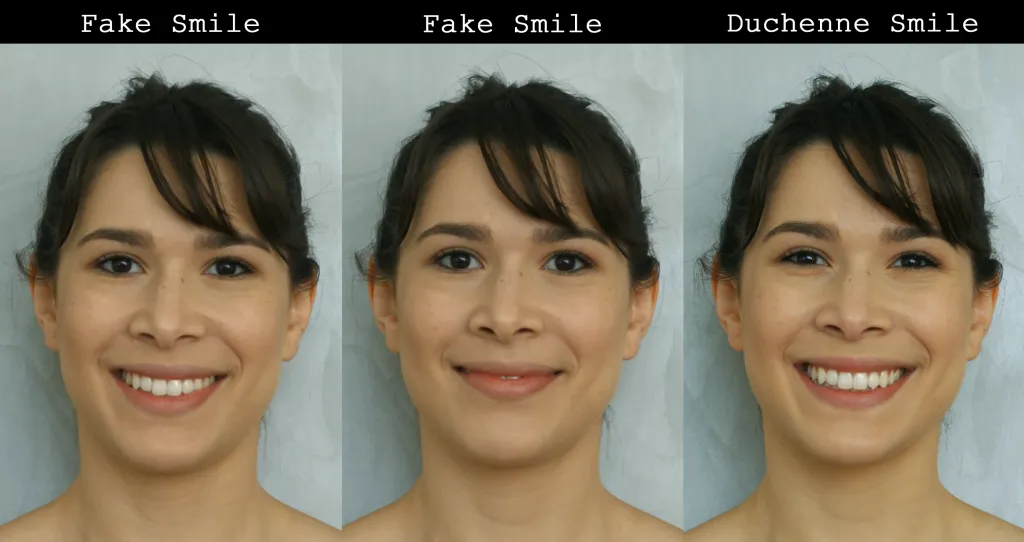 How fake smiles can be perceived as fake and how an authentic smile should look like