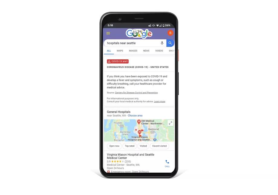 Google lanza sitio web dedicado al coronavirus 2