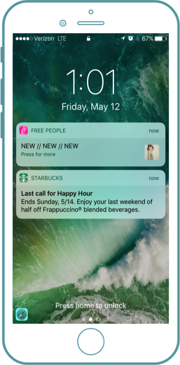 Push Notifications vs. In-App Messaging: What's the Difference for App  Marketing? - Localytics