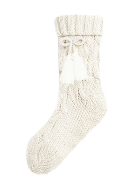 cable-knit reading socks