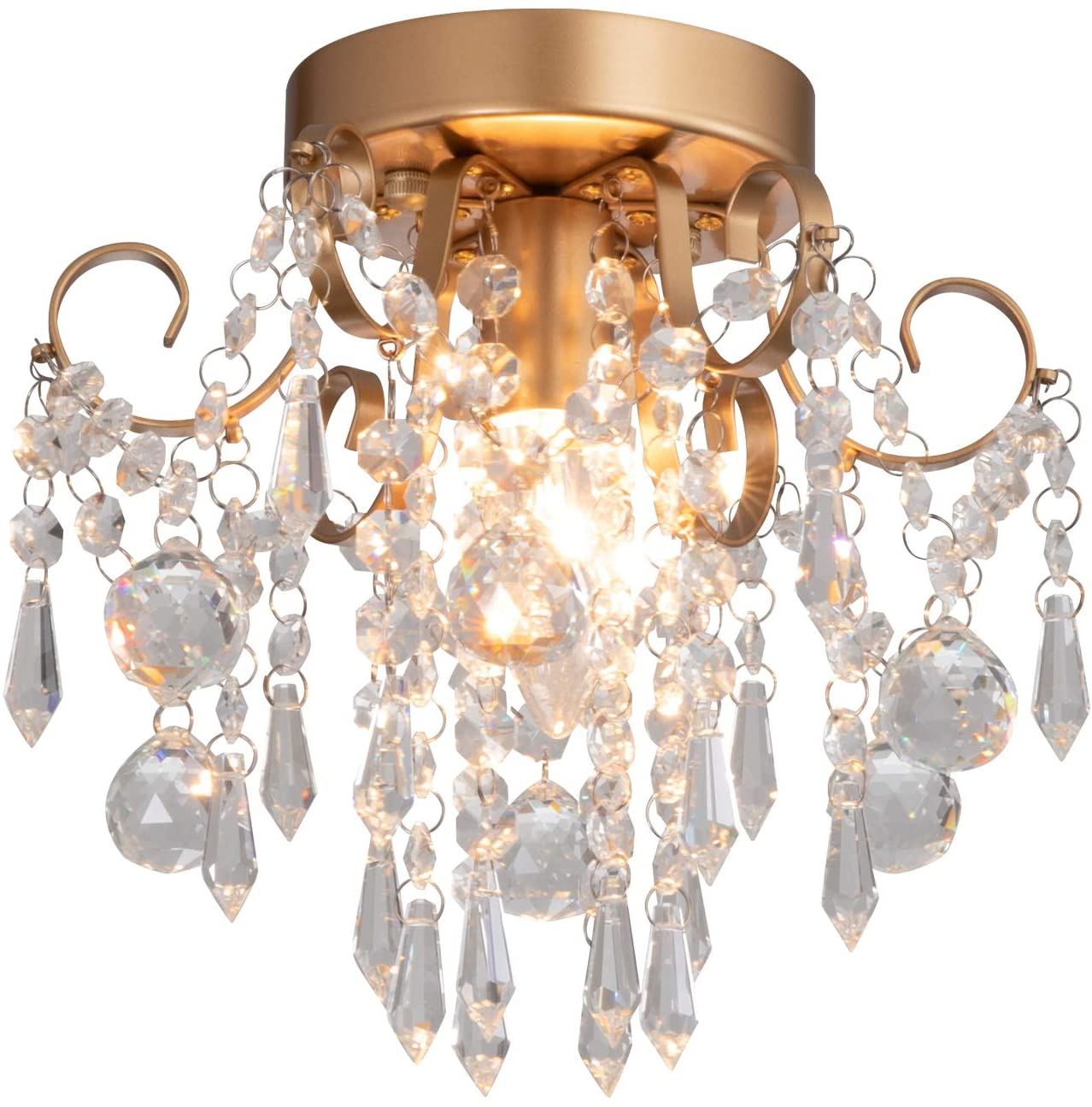 Mini Chandelier Crystal Ceiling Light for small living room