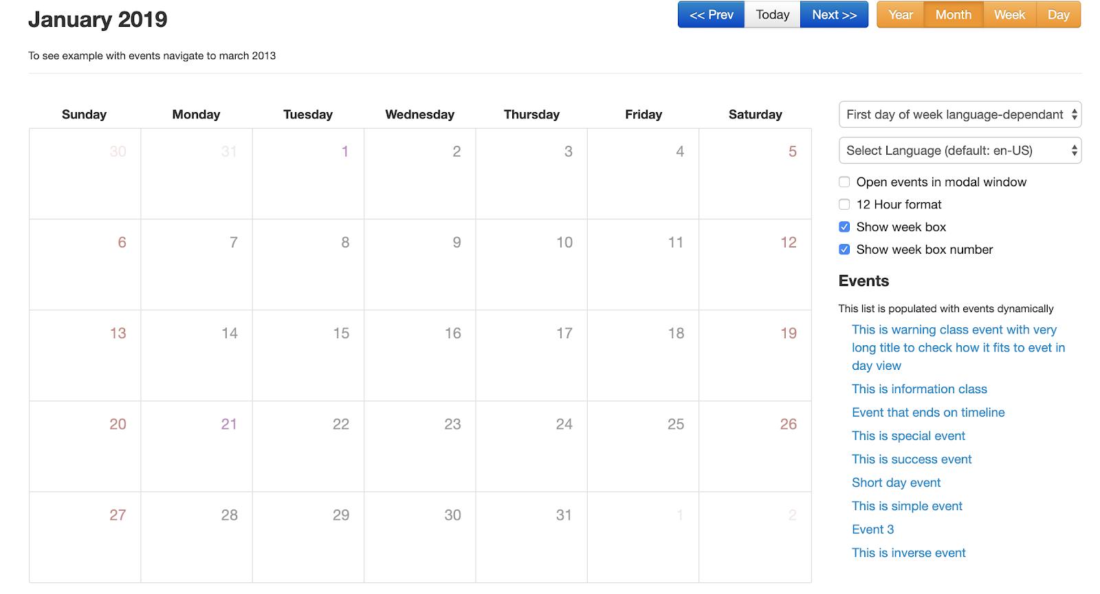 Top javascript calendar plugins - Flatlogic - Blog