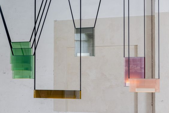 colorful pendants saintes atelier collection lambert et fils calgary interior design