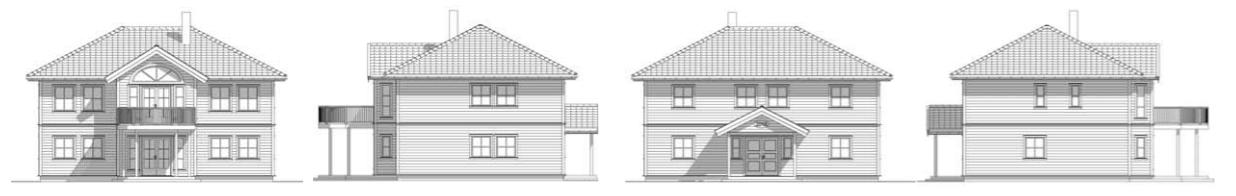 Illustrasjon av tradisjonelt hus