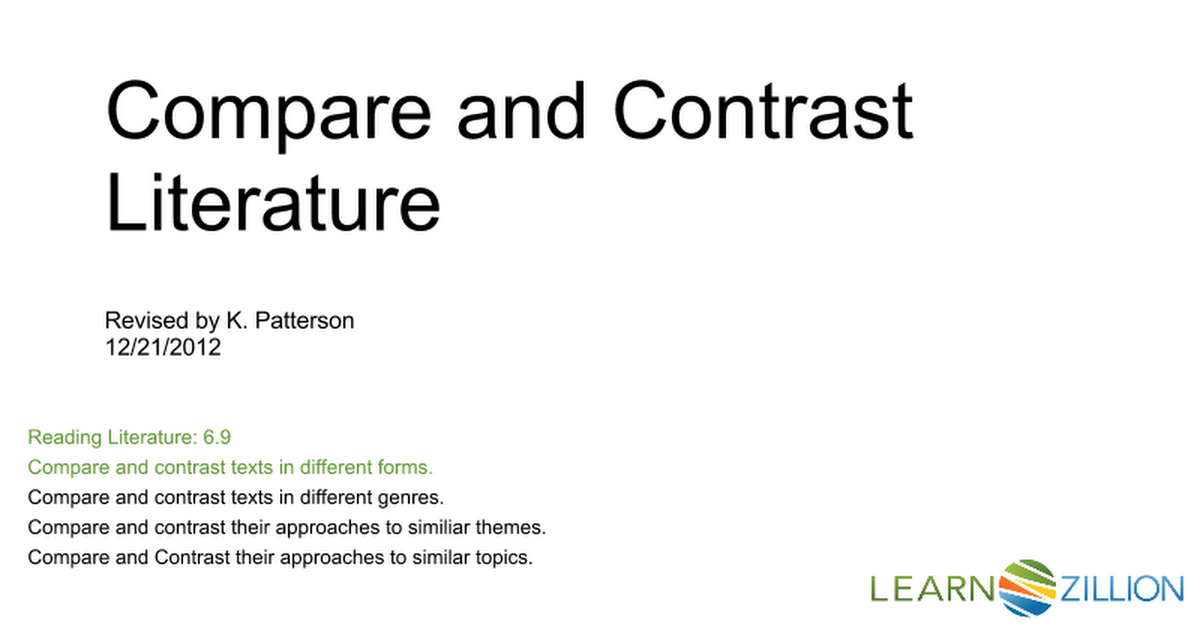 what is contrast in literature