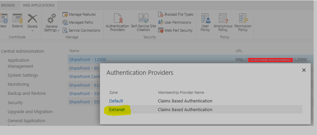 Authentication Providers Settings
