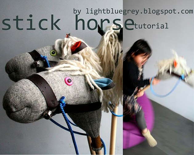 Make things for kids stick horse for Things you can make with horseshoes