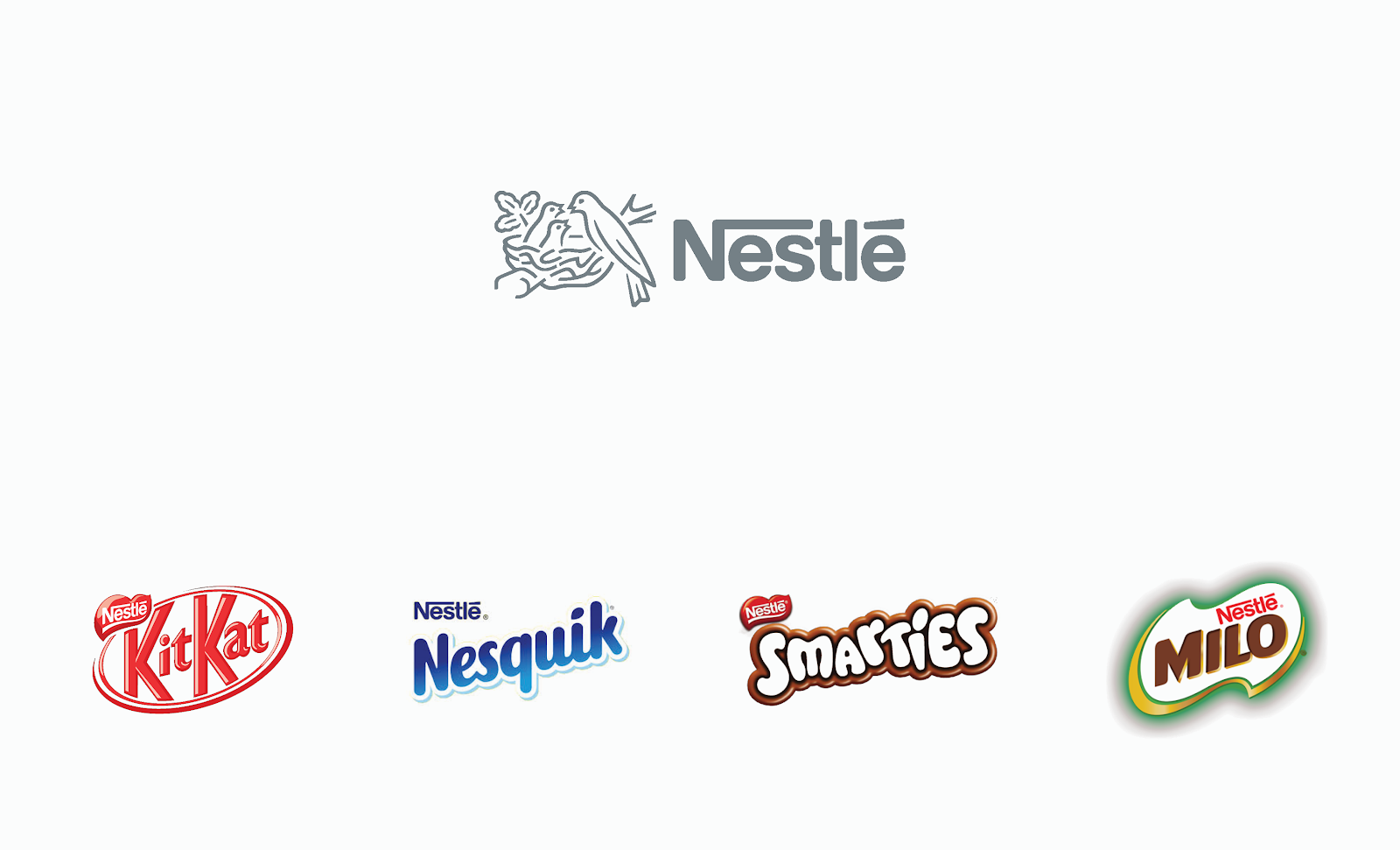 Example of brand architecture from Nestle