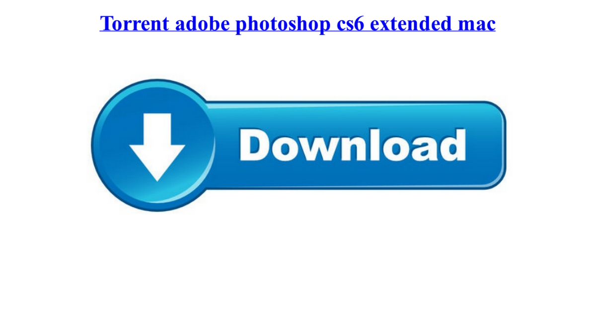 How to torrent photoshop mac