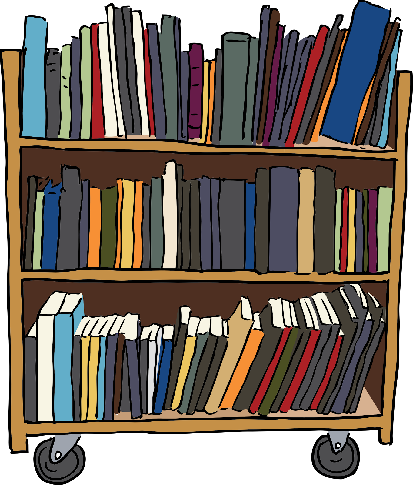 Great vector art of library ...