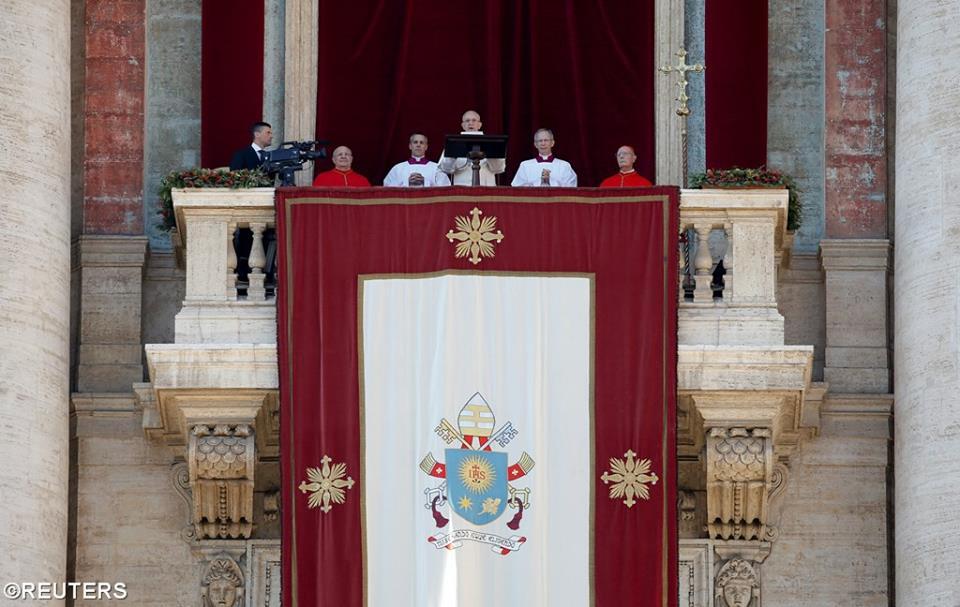 """Sứ điệp Giáng sinh và Phép lành """"Urbi et Orbi"""" của Đức Thánh Cha Phanxico"""