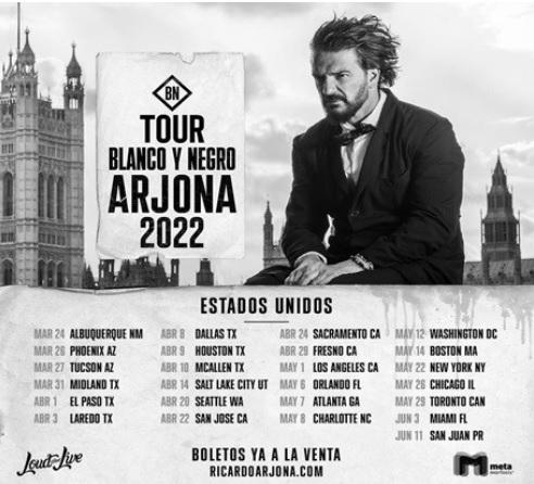 RICARDO ARJONA estrena nuevo álbumNEGRO