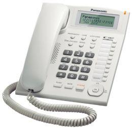 Panasonic - jednolinkový telefon, displej, CLIP, barva bílá
