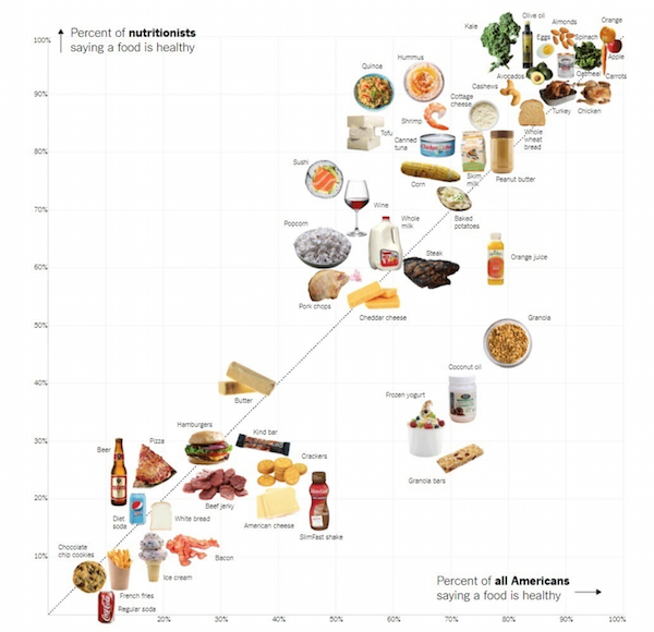 Data Visualization - NY Times nutrition scatter plot