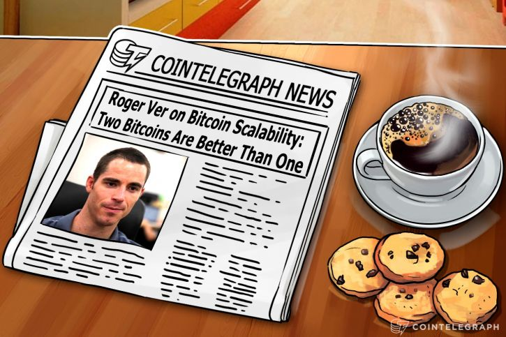 Newspaper with Roger Ver's portrait