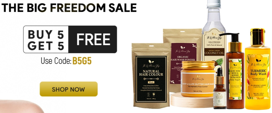 The Wellness Shop Landing Page