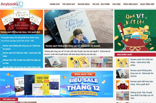 Giới thiệu về AnyBooks - Kênh Thông Tin Về Sách, Sách Hay Nên Đọc, Review Sách - Kết Nối Tri Thức, Lan Toả Văn Hoá Đọc Trong Cộng Đồng Yêu Sách Việt Nam
