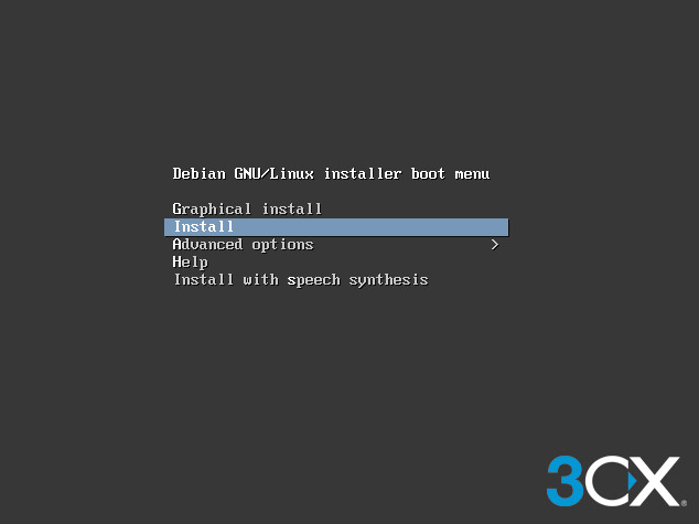 Installing 3CX on Debian from ISO
