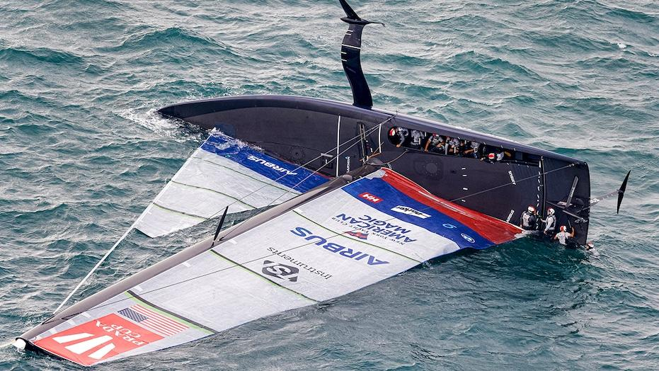 US yacht goes airborne, capsizes in lead-up race to ...