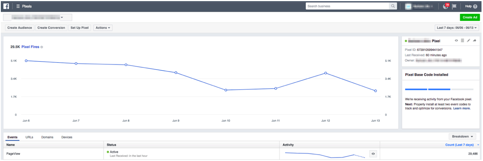 Facebook pixel analytics