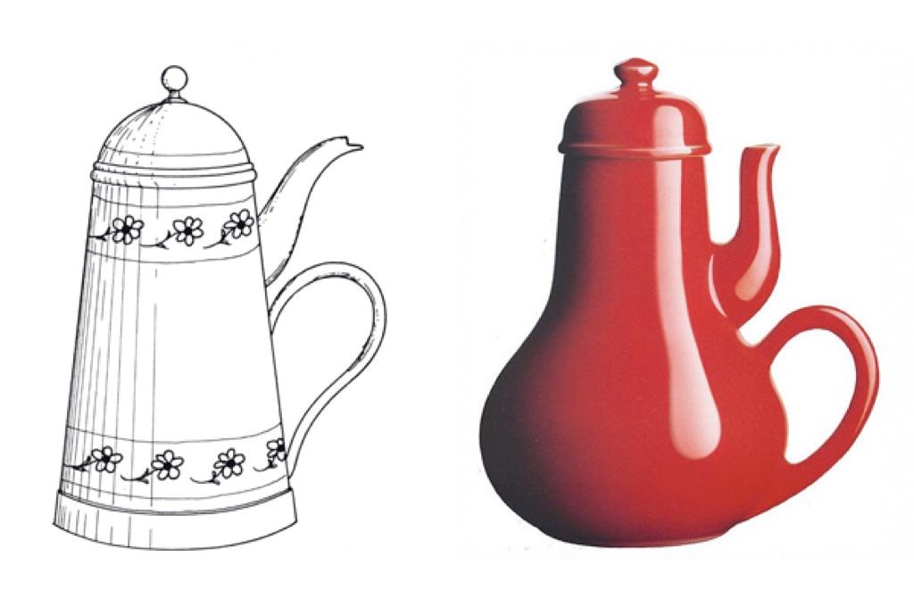 FIG 1. Jacques Carelman, La caffettiera del masochista, dal Catalogue d'Objets Introuvables, 1969.