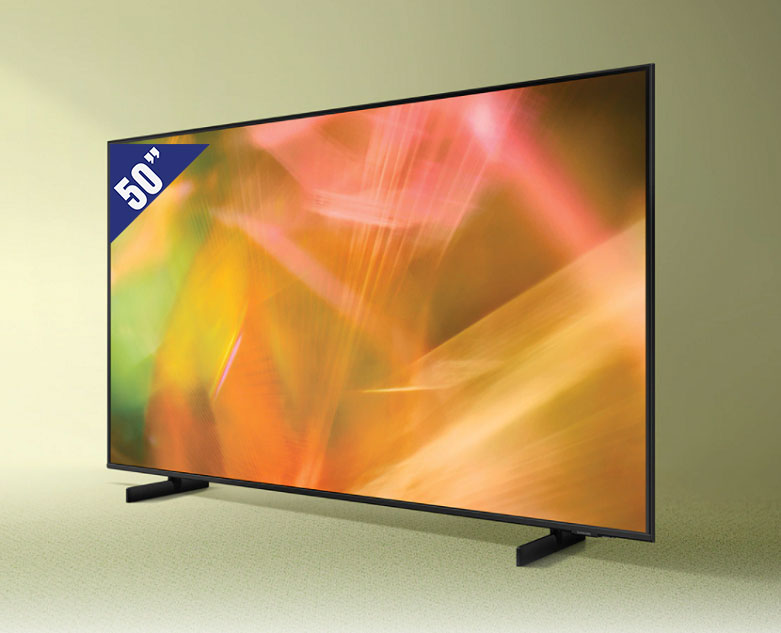 Smart Tivi Samsung 4K UHD 50 inch UA50AU8000KXXV | Kích thước 50 inch
